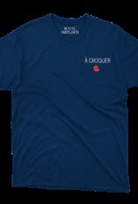 """Tee shirt """" A croquer"""" Marine"""