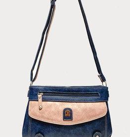 EMB Petit sac bleu rose bandouilère