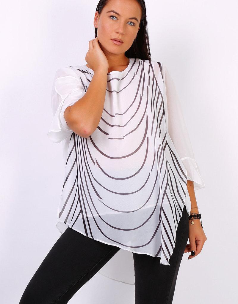 World Fashion Tunique blanche et noire