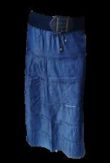 EMB Jupe longue ceinture cuirée