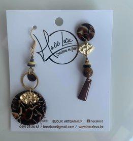Haceloca Boucles d'oreilles HACELOCA marron 3