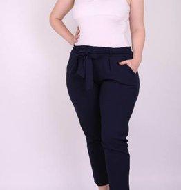 EMB Pantalon ceinture marine