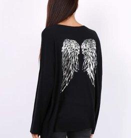 Pull leger ailes d'anges noir