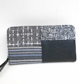 EMB Portefeuille patchwork noir