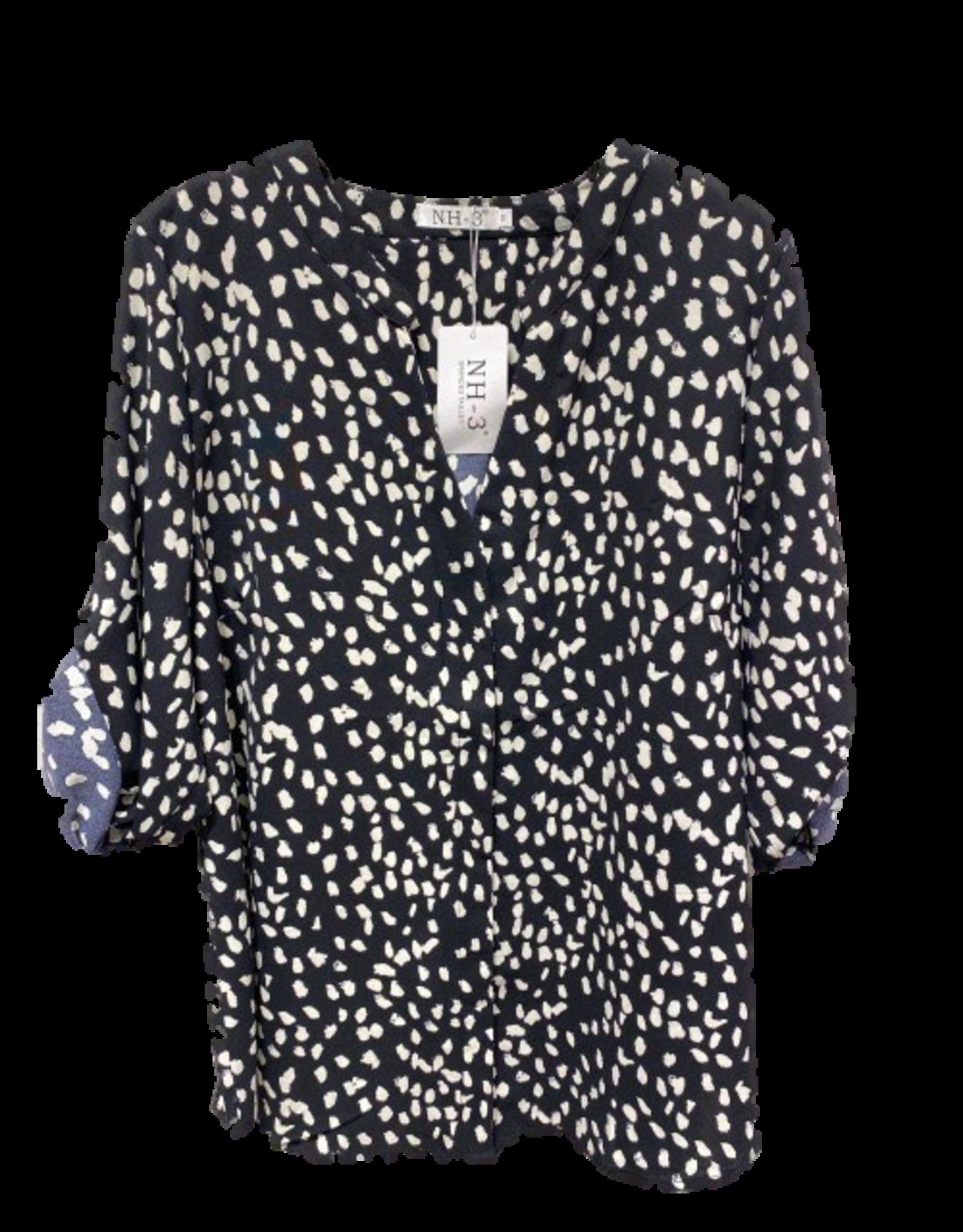 EMB Chemisier noir léopard