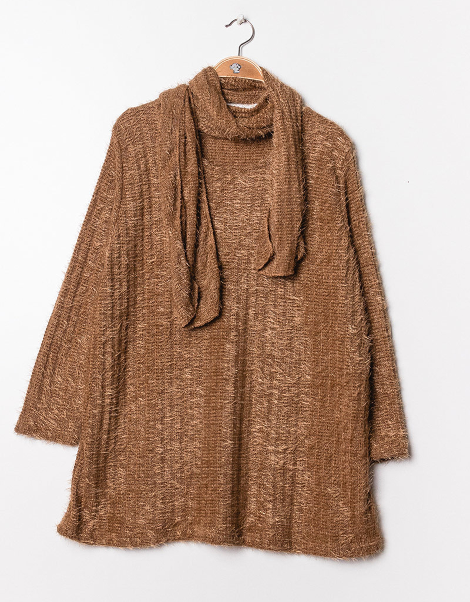 EMB Pull maille Louise camel