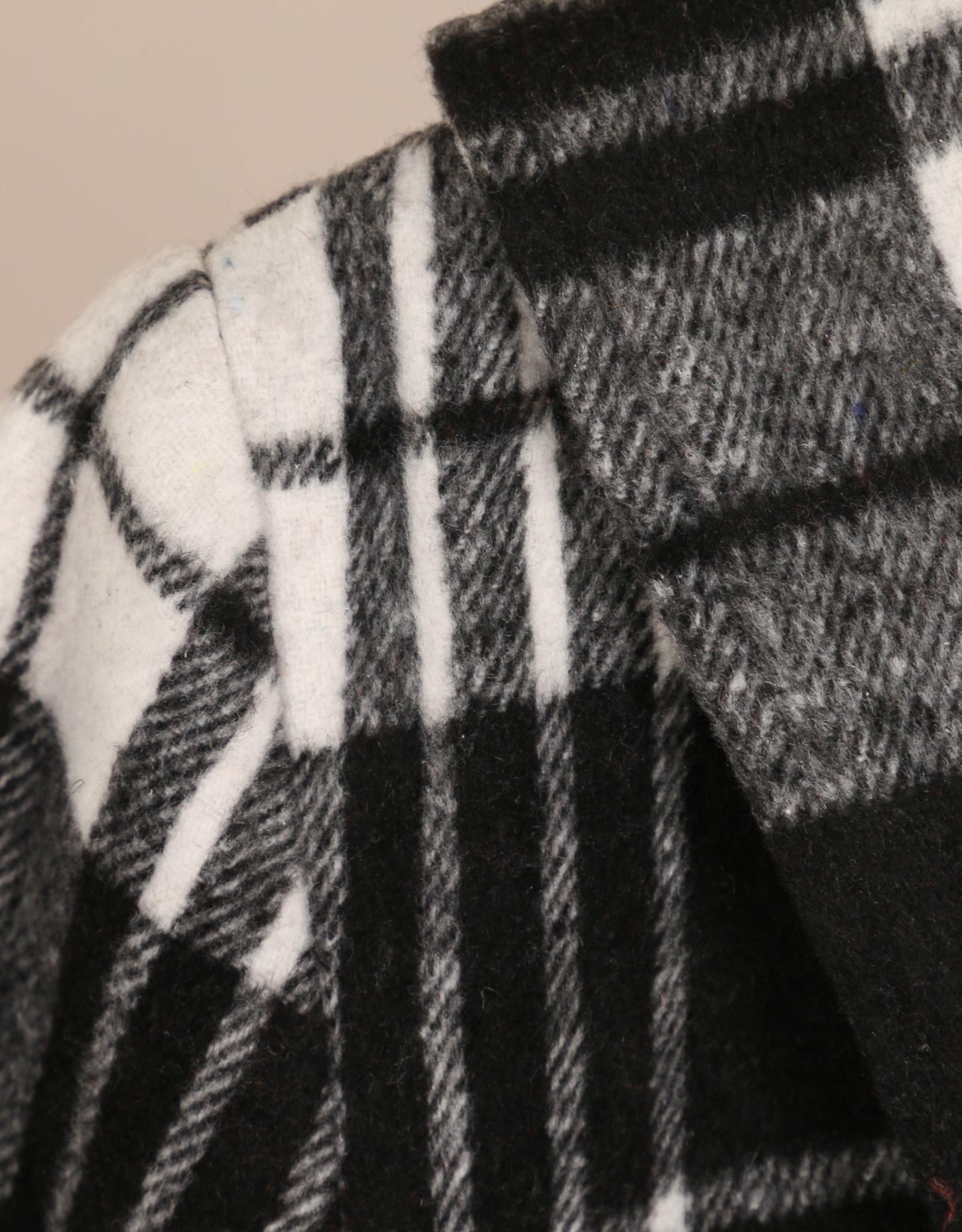 EMB Veste carreau noir blanc