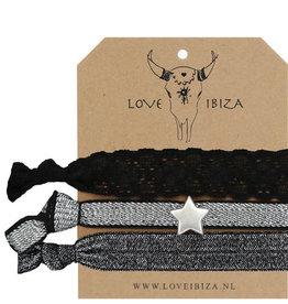 Love Ibiza Black sparkle