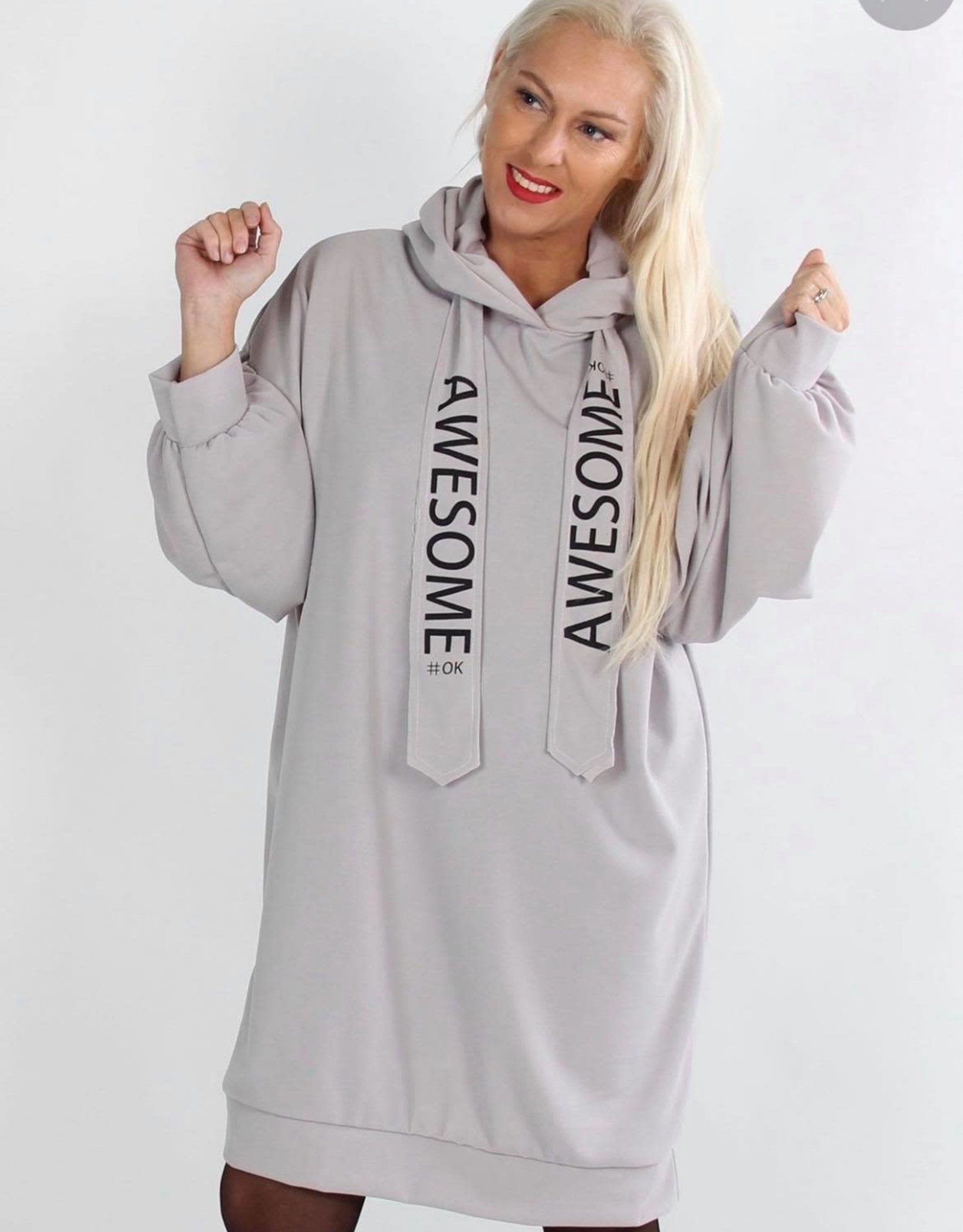 EMB Robe sweat Awesome grise