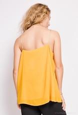 EMB Top jaune bride dorée