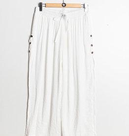EMB Pantalon fluide à nouer  blanc