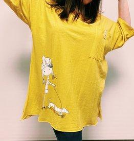 EMB Robe tunique jaune demoiselle