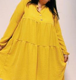 EMB Robe courte jaune