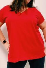 EMB Tee shirt basic rouge TU