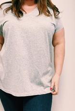 EMB Tee shirt basic gris TU
