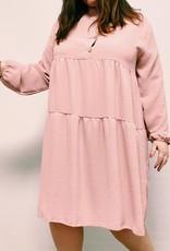 EMB Robe courte rose