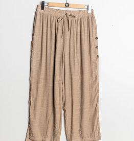 EMB Pantalon fluide à nouer taupe