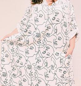 EMB Robe tunique silhouette blanche