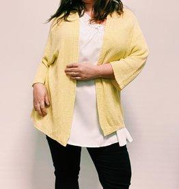 EMB Gilet pailleté grande taille jaune
