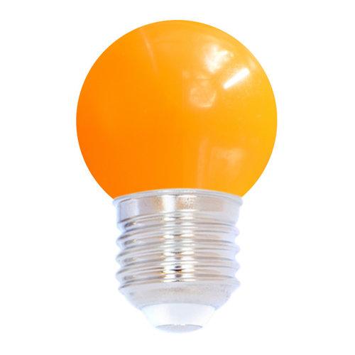 Ampoule LED colorée, 1 watt, orange, Ø45