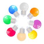 Kit de 8 ampoules LED guinguette colorées