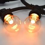 Ampoules LED blanches  chaleureuses  à intensité variable, 2 - 3 watt