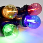 Ampoule LED guinguette, rouge,  à filament, 1 watt