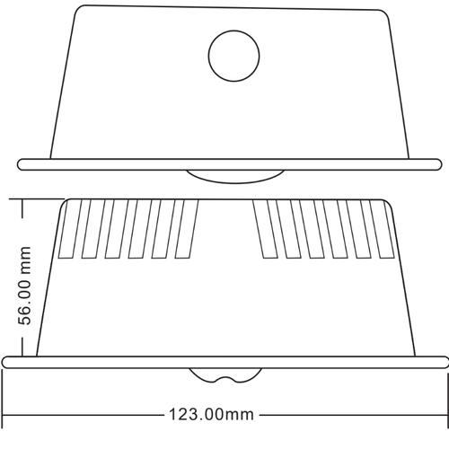 Bloc autonome anti-panique LED MTSPOT-010