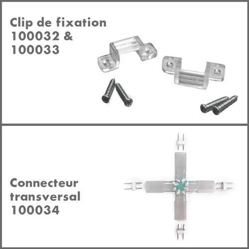 Accessoires pour le cordon lumineux LED 230V - Bandes LED