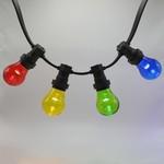 Kit de 4 ampoules LED guinguette colorées avec grande enveloppe, Ø60