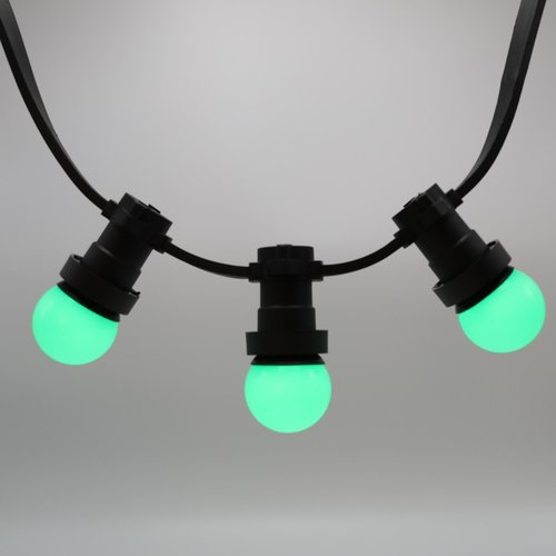 Ampoule LED guinguette verte, 1 watt, Ø45