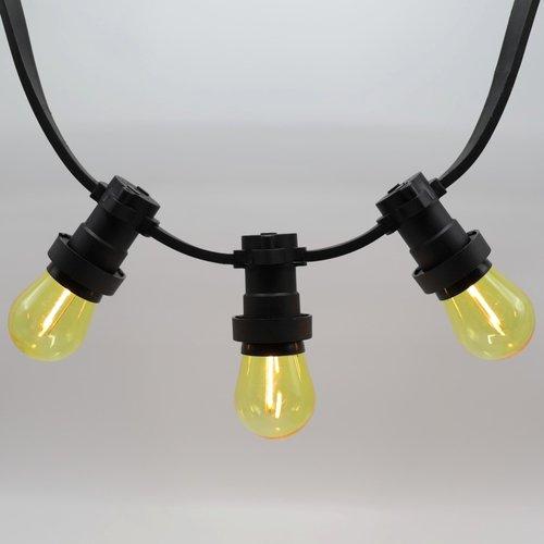 Ampoule LED guinguette, jaune,  à filament, 1 watt
