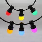Kit de 6 ampoules LED guinguette colorées