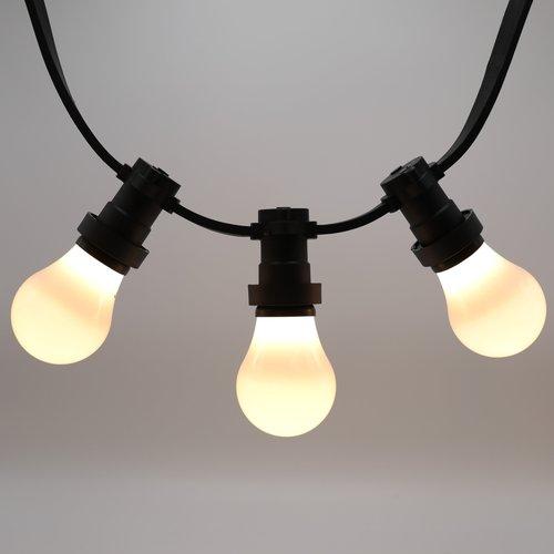 Ampoules LED blanc chaud avec grande enveloppe opaque, Ø60