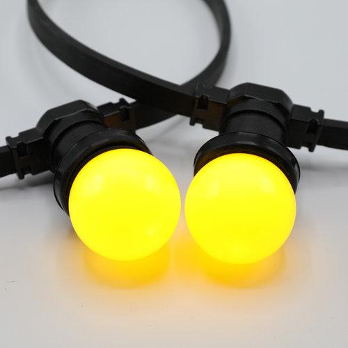 Ampoule LED de couleur, 1 watt, jaune, Ø45