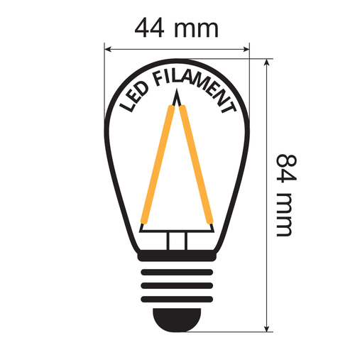 Kit guirlande guinguette de 3 watts, avec ampoules à filament à intensité variable, de 5 à 100 mètres.