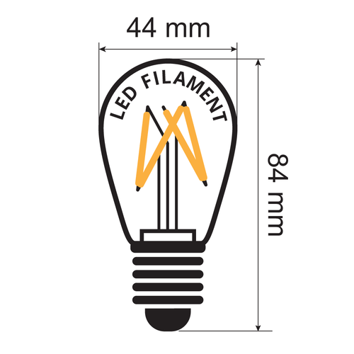Kit guirlande guinguette de 3,5 watts, avec ampoules à filament à intensité variable, de 5 à 100 mètres.