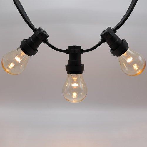 Ampoules LED blanc chaud avec grande enveloppe transparente et lentille, Ø60, intensité variable