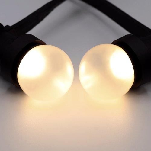 Ampoules LED blanc chaud avec enveloppe givrée, Ø45