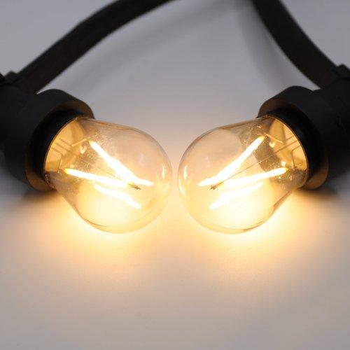 Ampoules guinguette LED à filament blanc chaud  à intensité variable - 3 watts