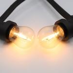 Ampoules guinguette LED à filament blanc chaud et chaleureuses avec enveloppe transparente - 1 watt