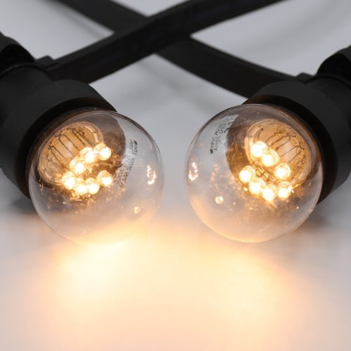 Ampoules guinguette à LED blanc chaud avec LED sur petites perches