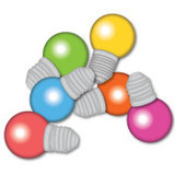 Ampoules colorées