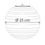 Lanterne blanche pour l'extérieur, Ø25cm