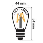 Ampoule filament de 3,5 watts, jaune, à intensité variable.