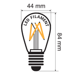 Lampes à filament blanc chaud, dimmable - 3,5 watt