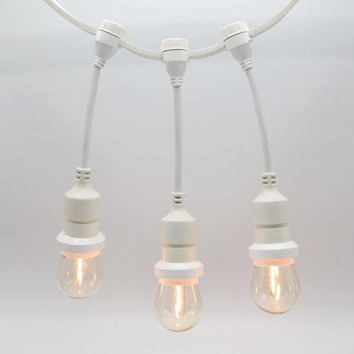 Douille suspendue (blanche) - à monter soi-même (sans lampe)