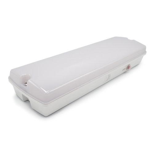 Luminaire de secours de 3 watts avec couvercle blanc laiteux, série OTG-KL