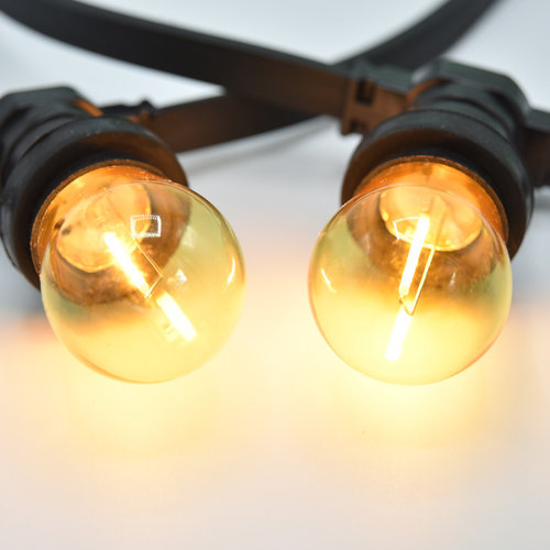 Kit complet guirlande avec ampoules LED à filament de 4 couleurs