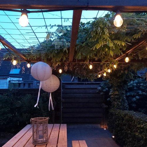 Kit guirlande avec ampoules LED à gradation, grand culot et lentille